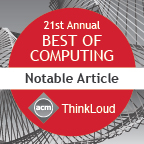 CR Best of Computing Notable Article
