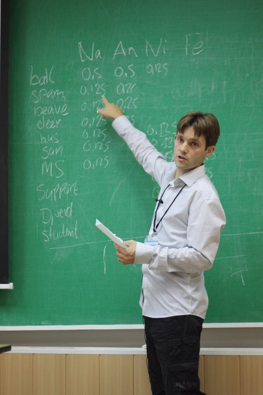 Me teaching at RuSSIR